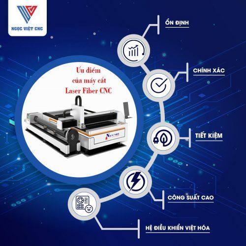 ưu điểm của máy cắt Laser Fiber CNC